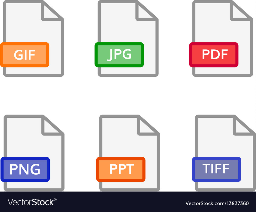 Graphic file icons format document symbol vector image