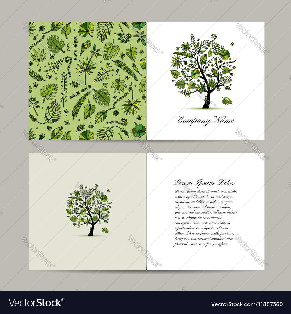 Greeting card with tropical tree design royalty free vector greeting card with tropical tree design vector image kristyandbryce Image collections