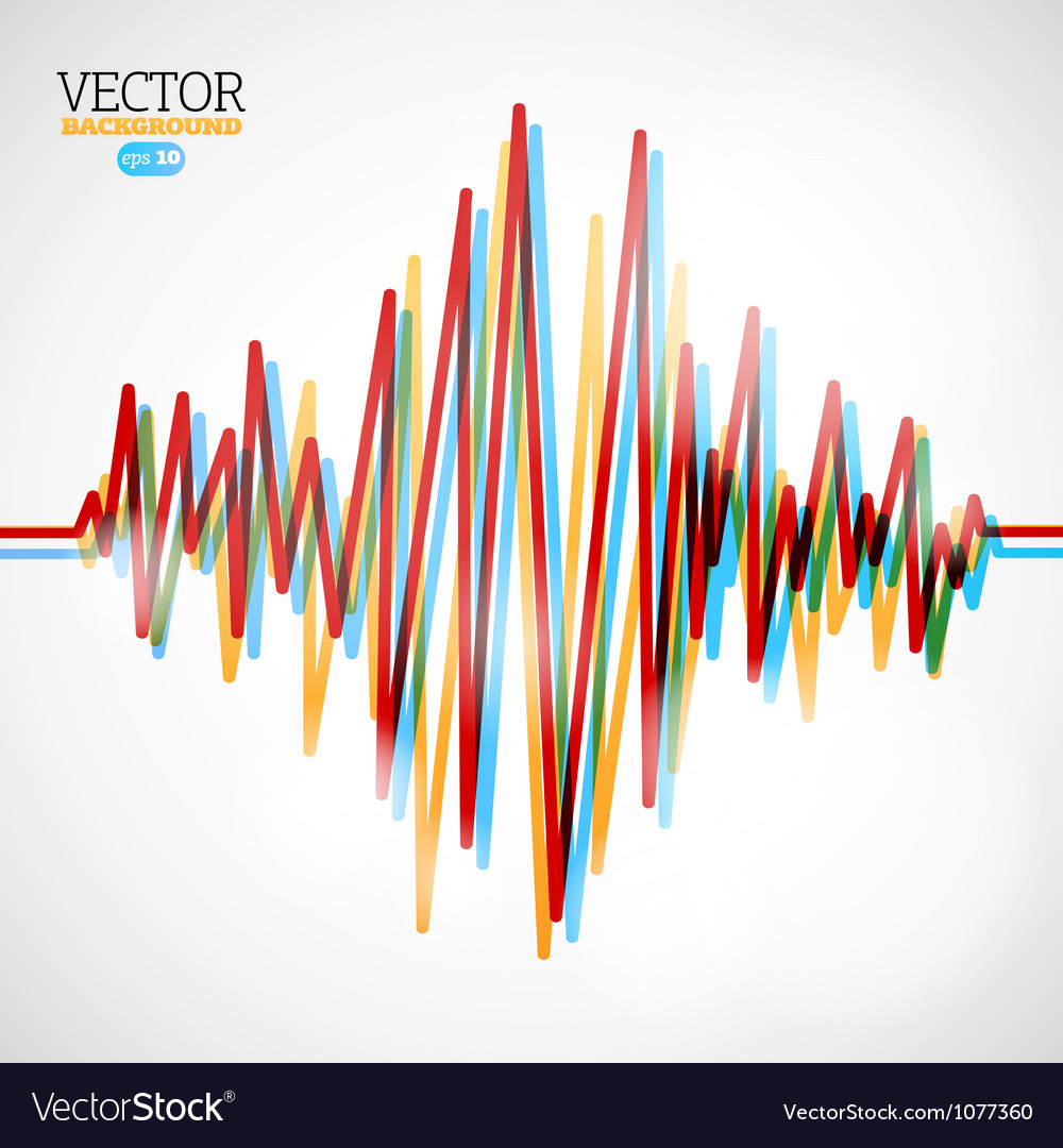 Waveform background vector image