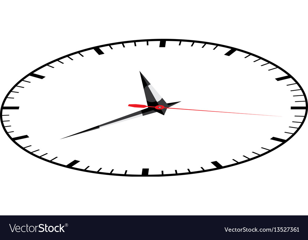 Color sticker clock icon vector image