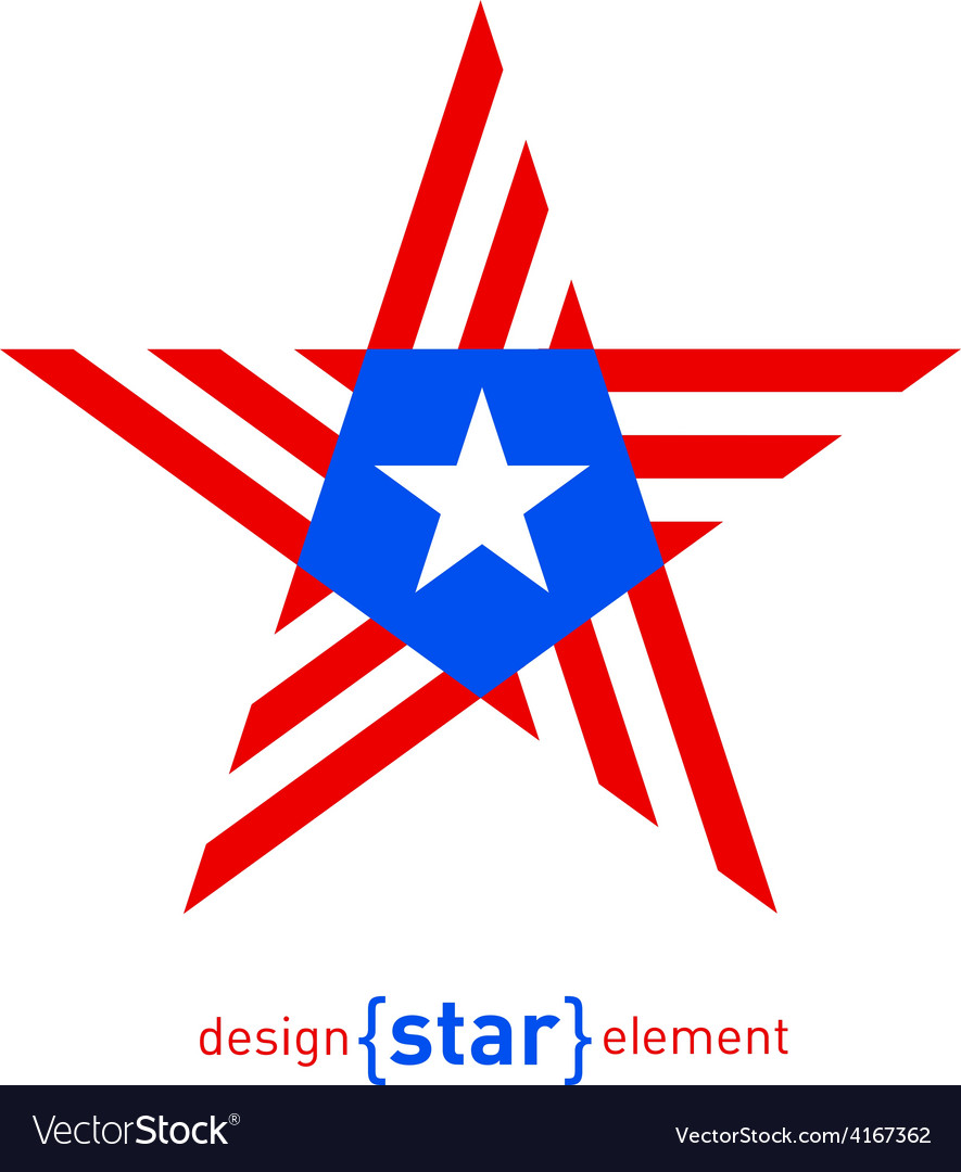 Abstract Design Element Star With Puerto Rico Flag-2120