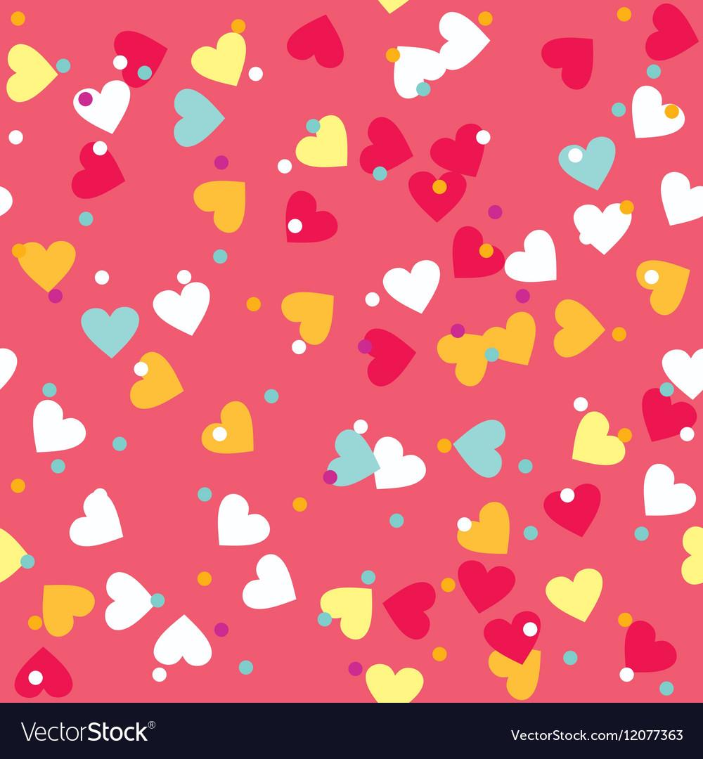 Colorful Sprinkles Donut Glaze Seamless Pattern vector image
