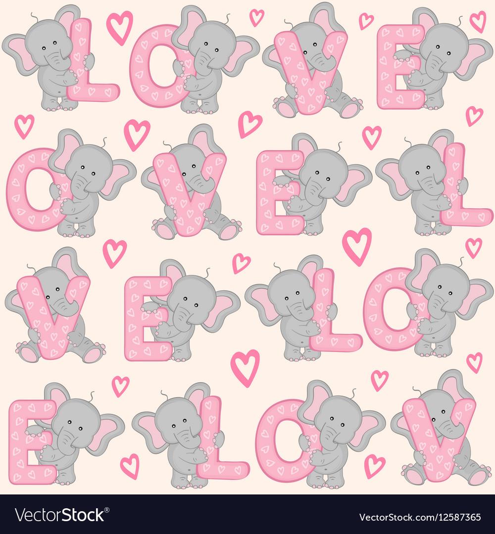 Valentine Elephant Wallpaper - WallsKid