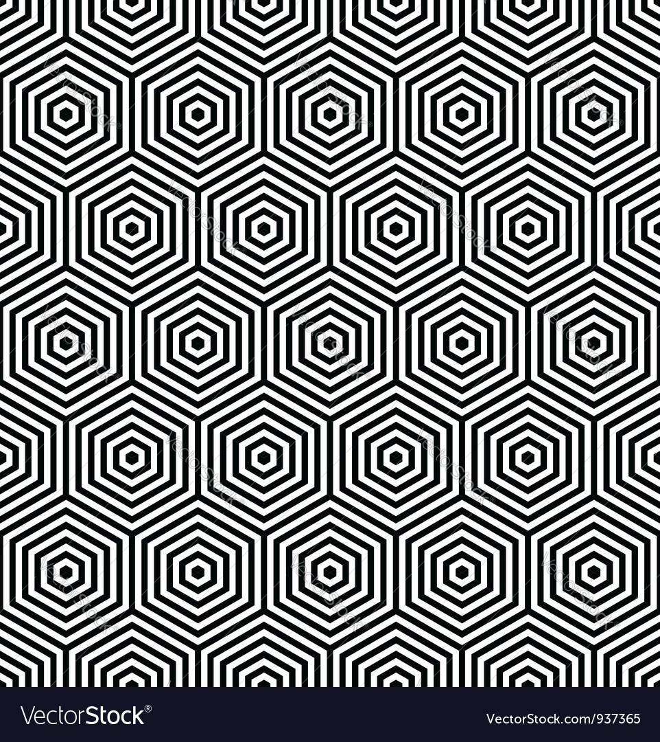 Seamless thexagonal texture vector image