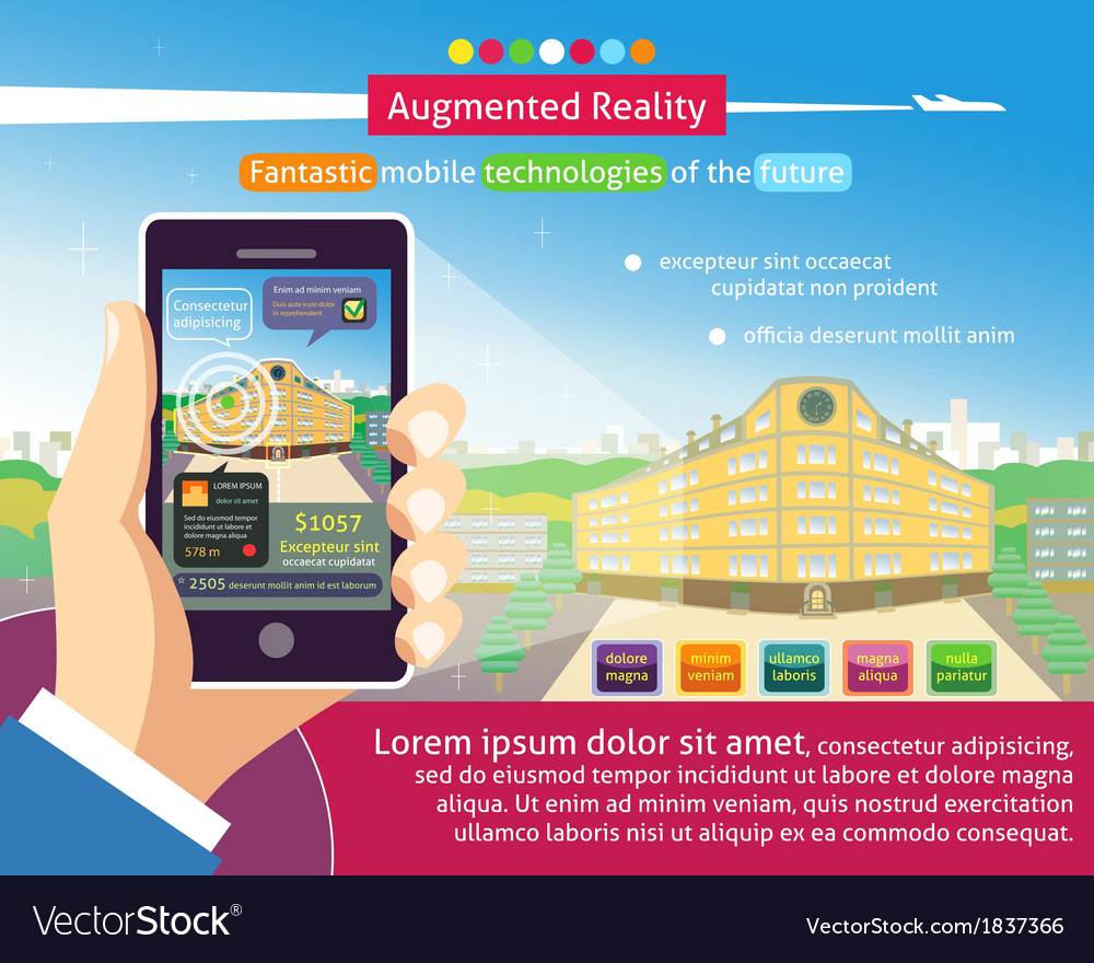 Augmented reality poster vector image