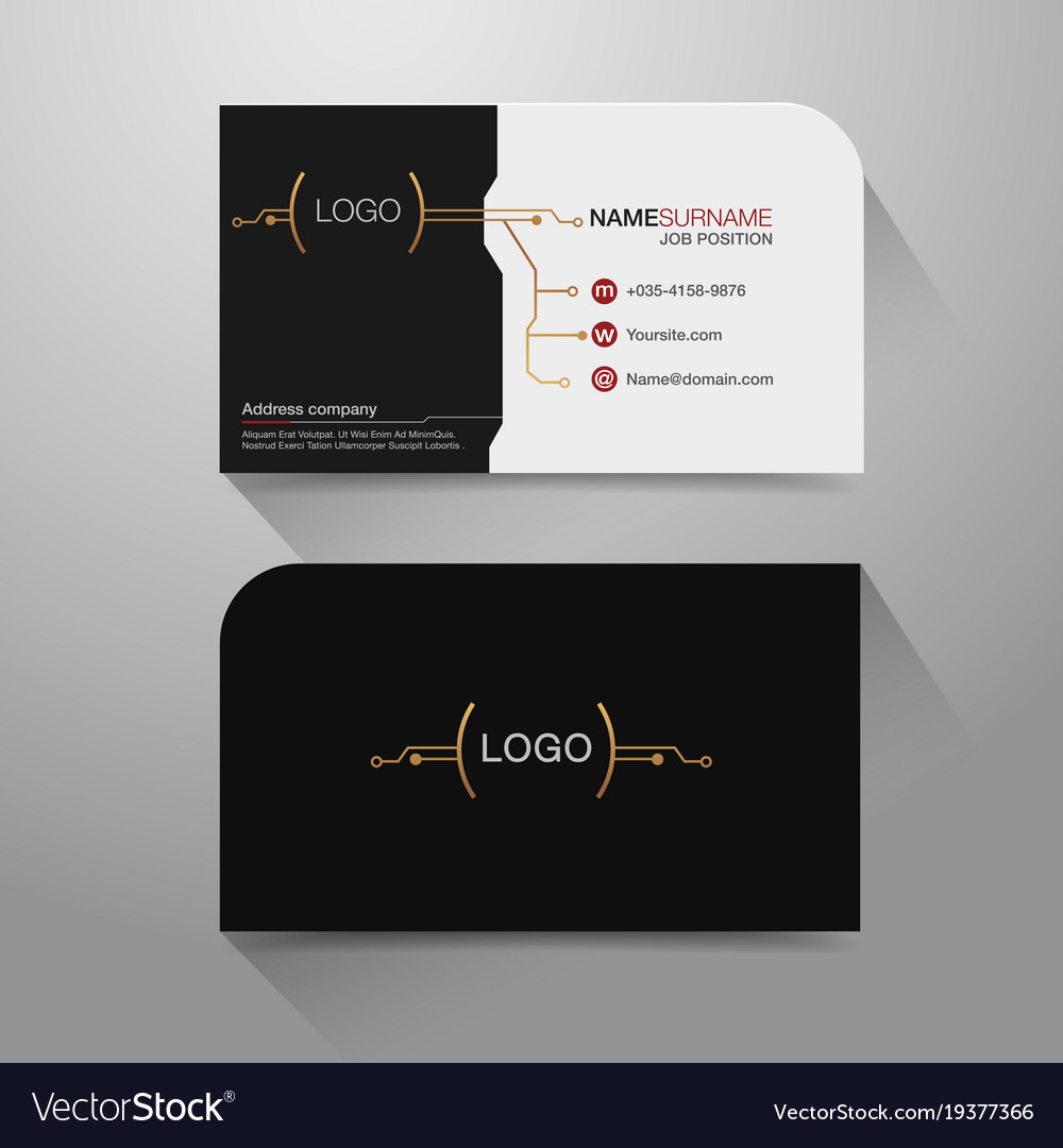 Business name card Royalty Free Vector Image - VectorStock
