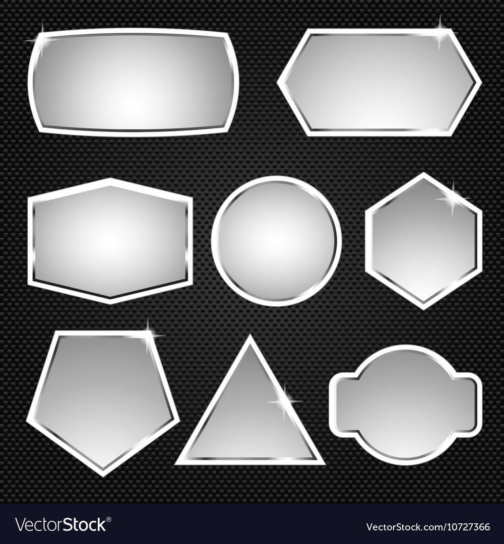 Metallic buttons Icons vector image