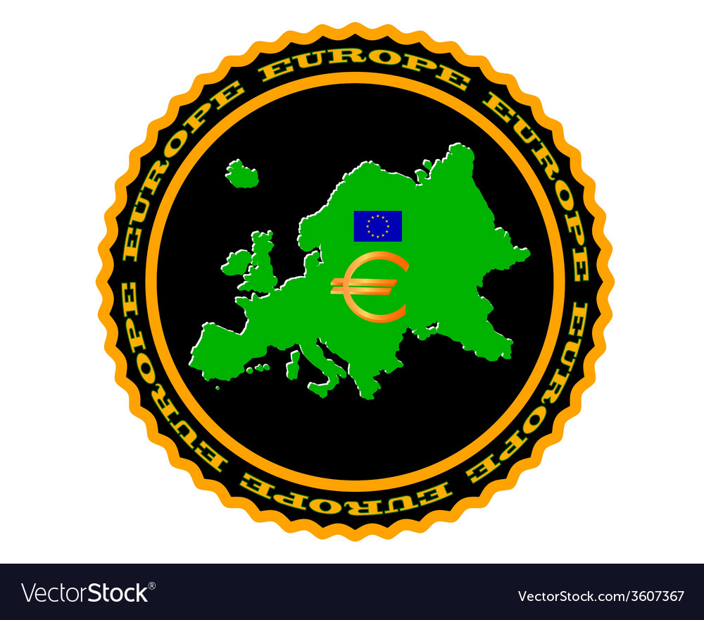 Symbols of Europe vector image
