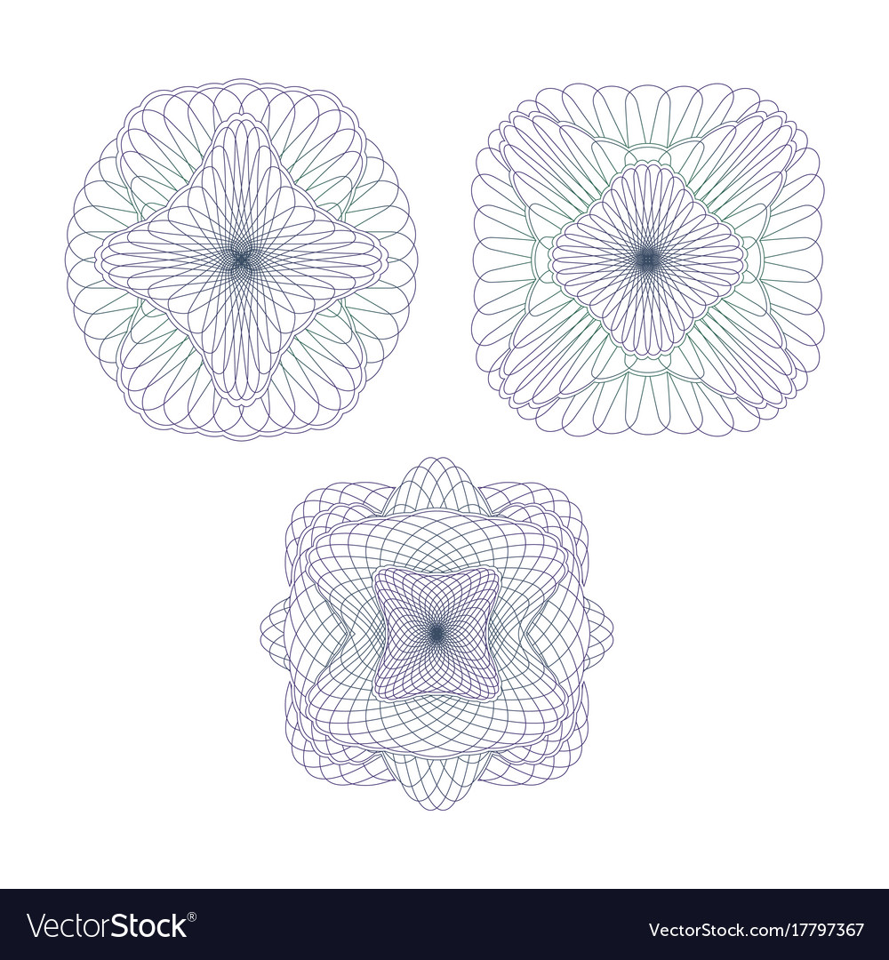 Three decorative protective elements vector image