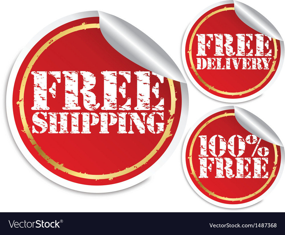 Free shipping free delivery and 100 percent free vector image