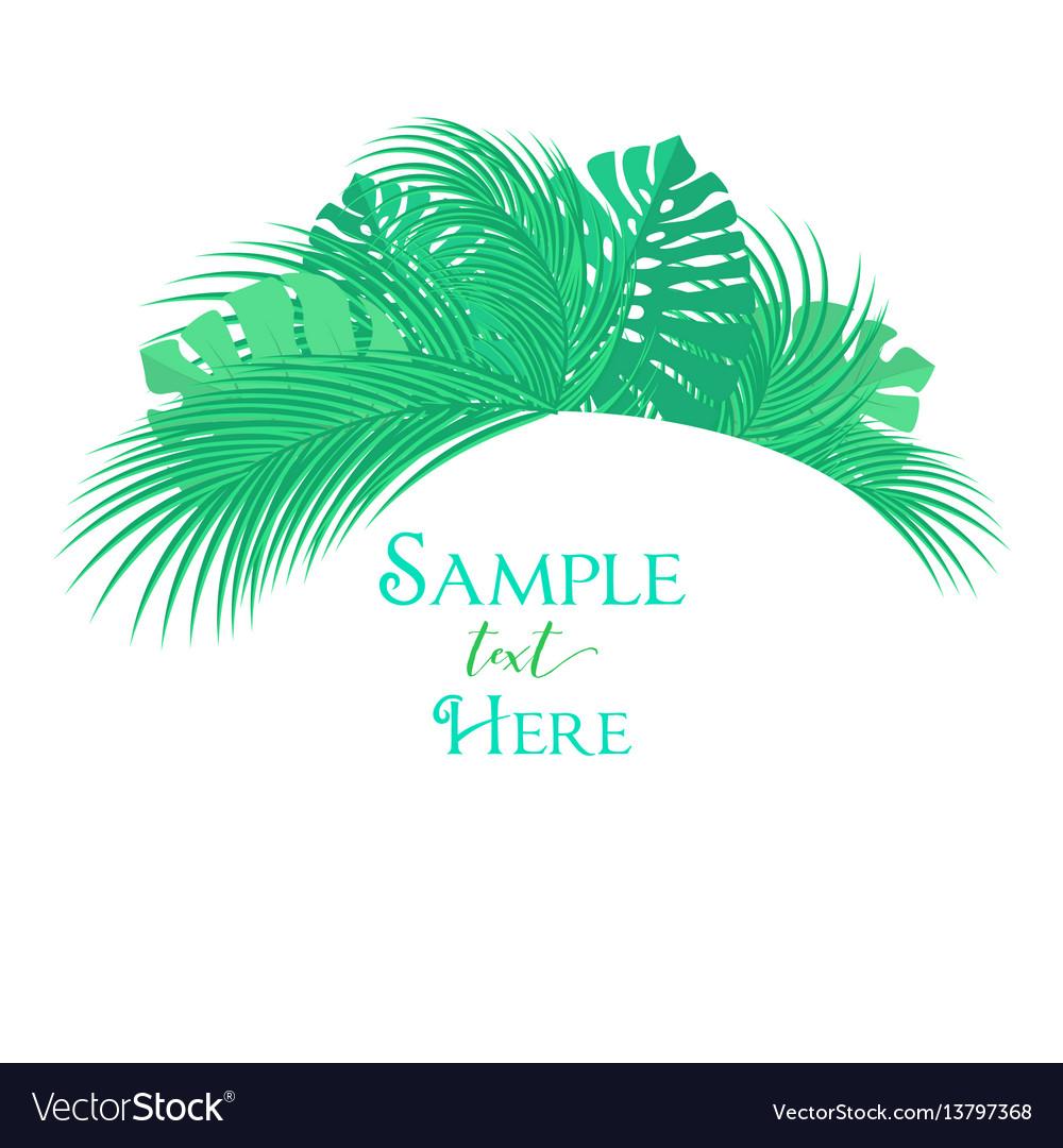 Palm leaf decoration vector image