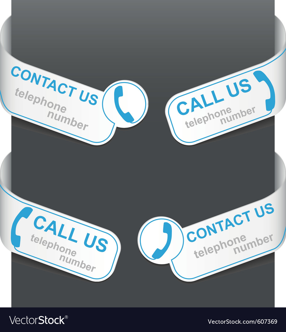 Left and right side signs - contact us vector image