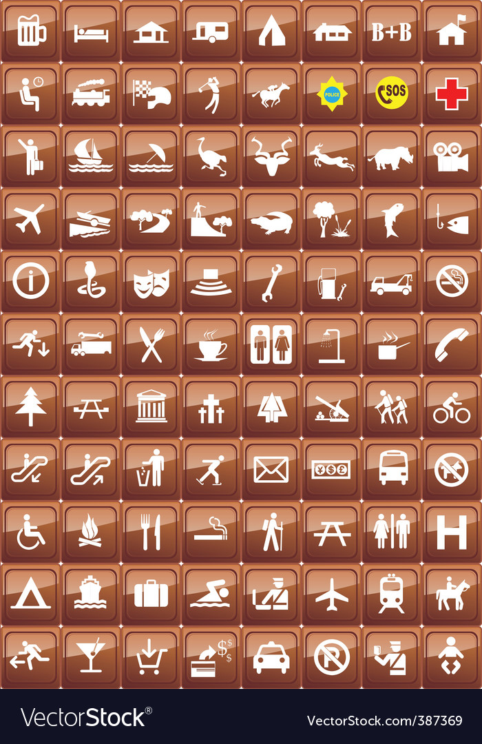 Activities icons vector image