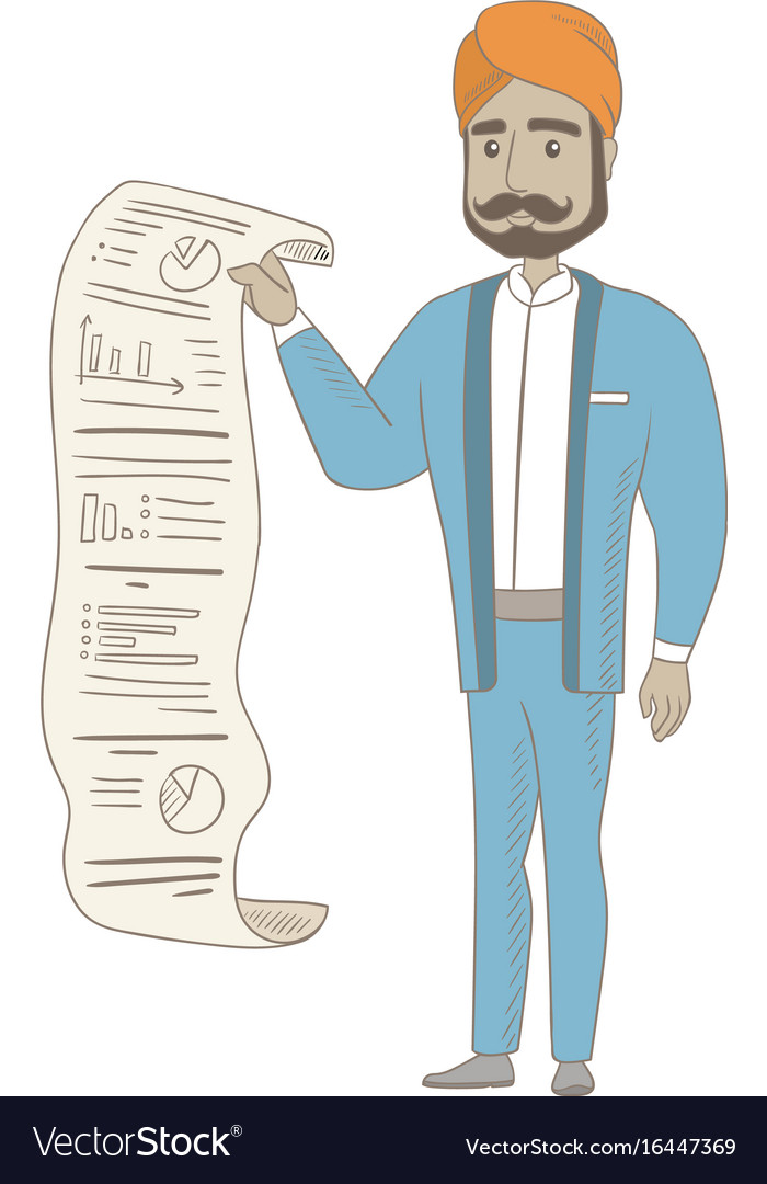 Hindu businessman presenting business report vector image