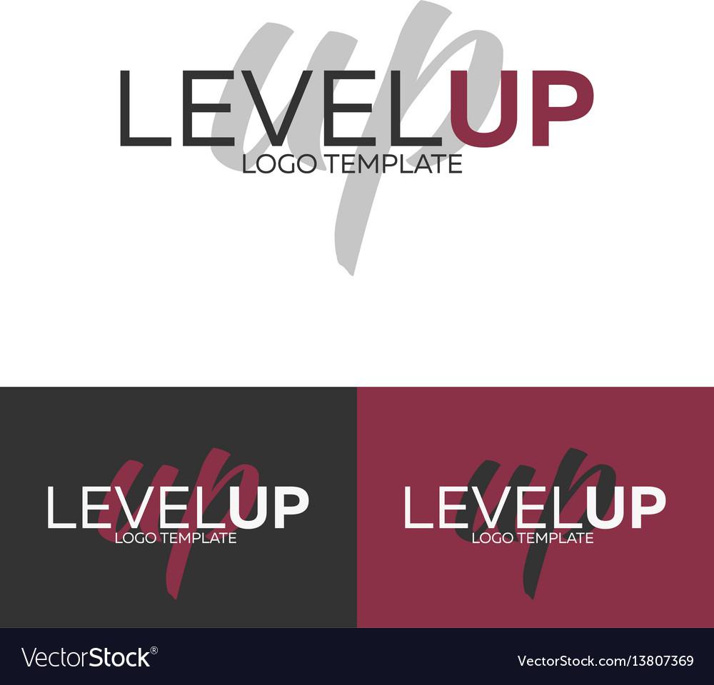 Level up logo logo template logotype vector image