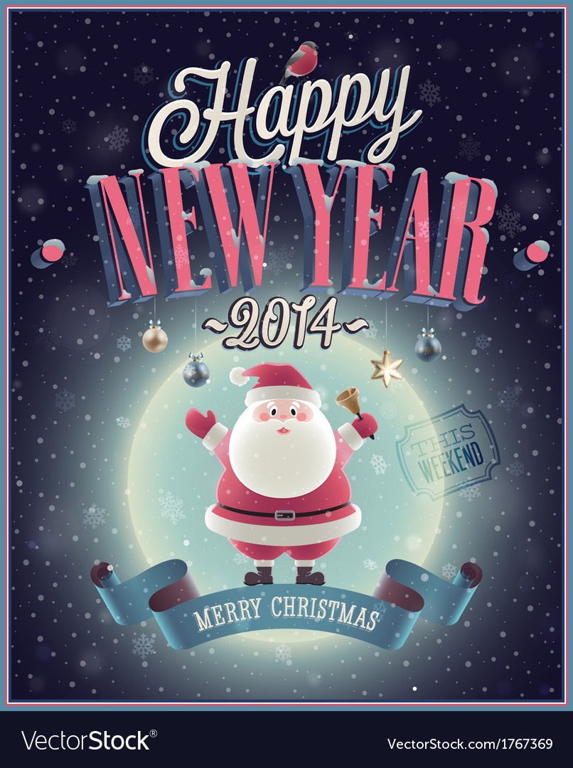 Santa poster vector image