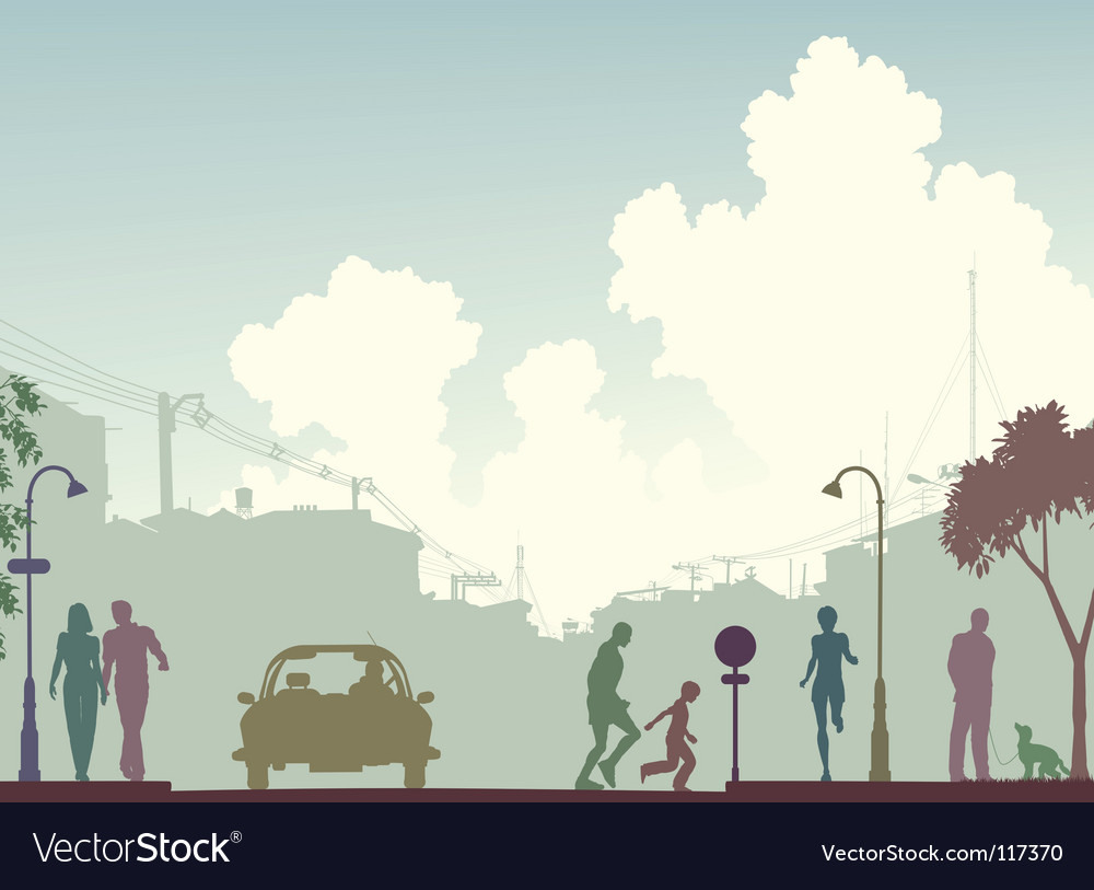 City scene vector image