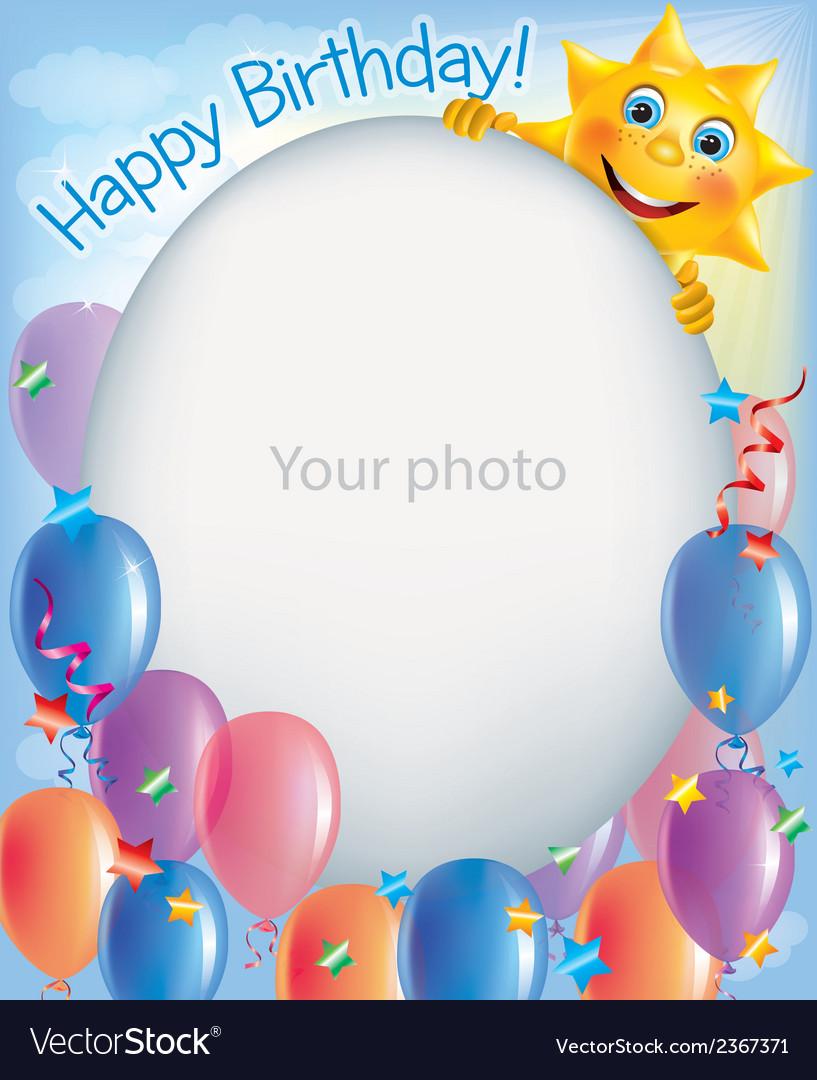 Birthday frames for photos 2 vector image