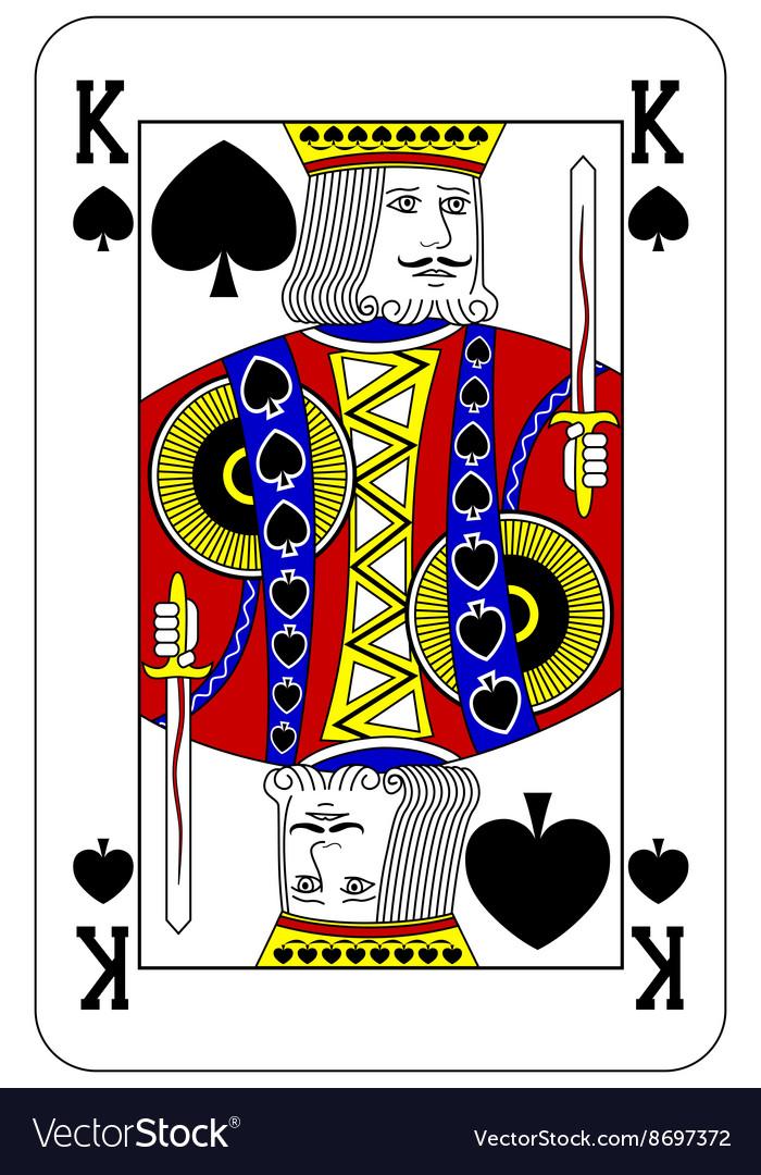 Poker playing card King spade vector image