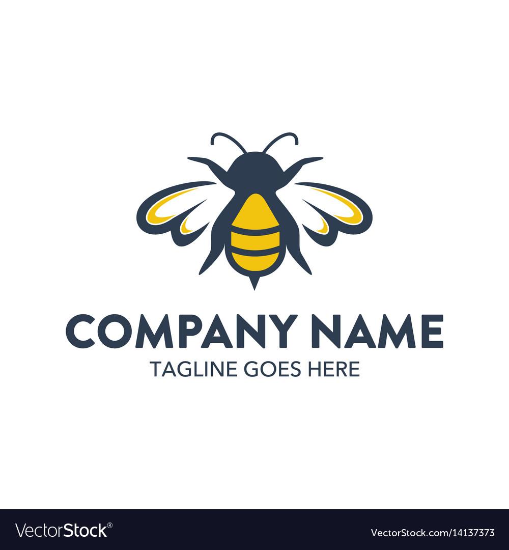 Bee logo-2 vector image