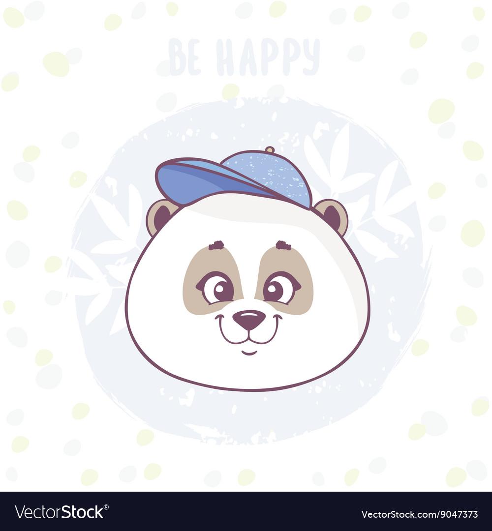 Cute panda character vector image