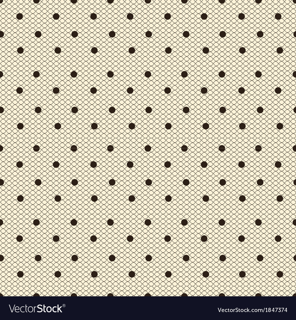 Dotted lacy seamless pattern vector image