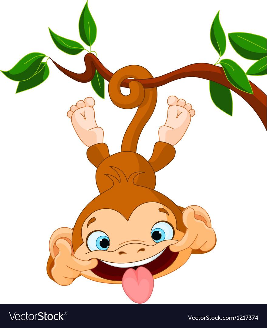 Monkey hamming vector image