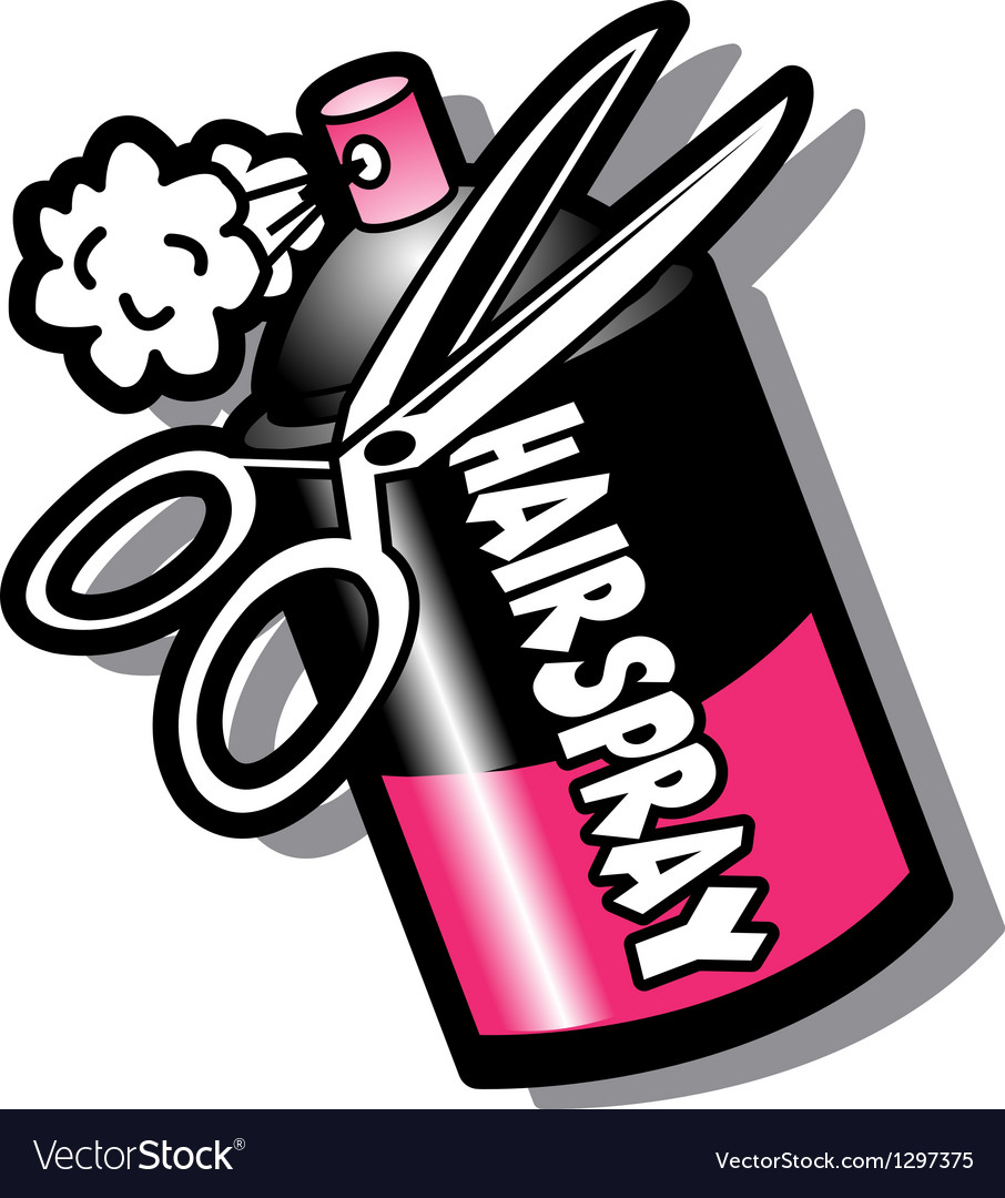 Hairspray and scissors vector image