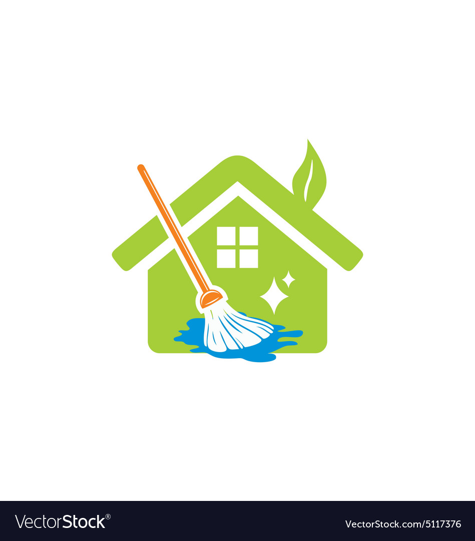 House Cleaning Service Logo Royalty Free Vector Image