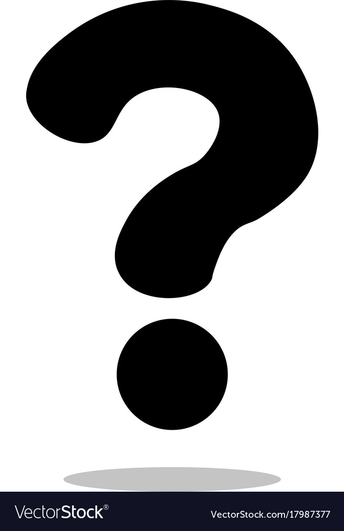 Question mark sign icon flat vector image
