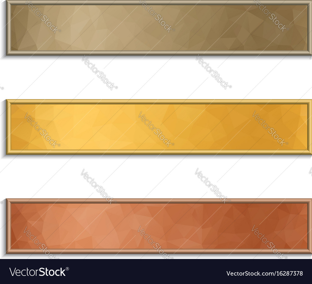 Banner with polygonal background vector image