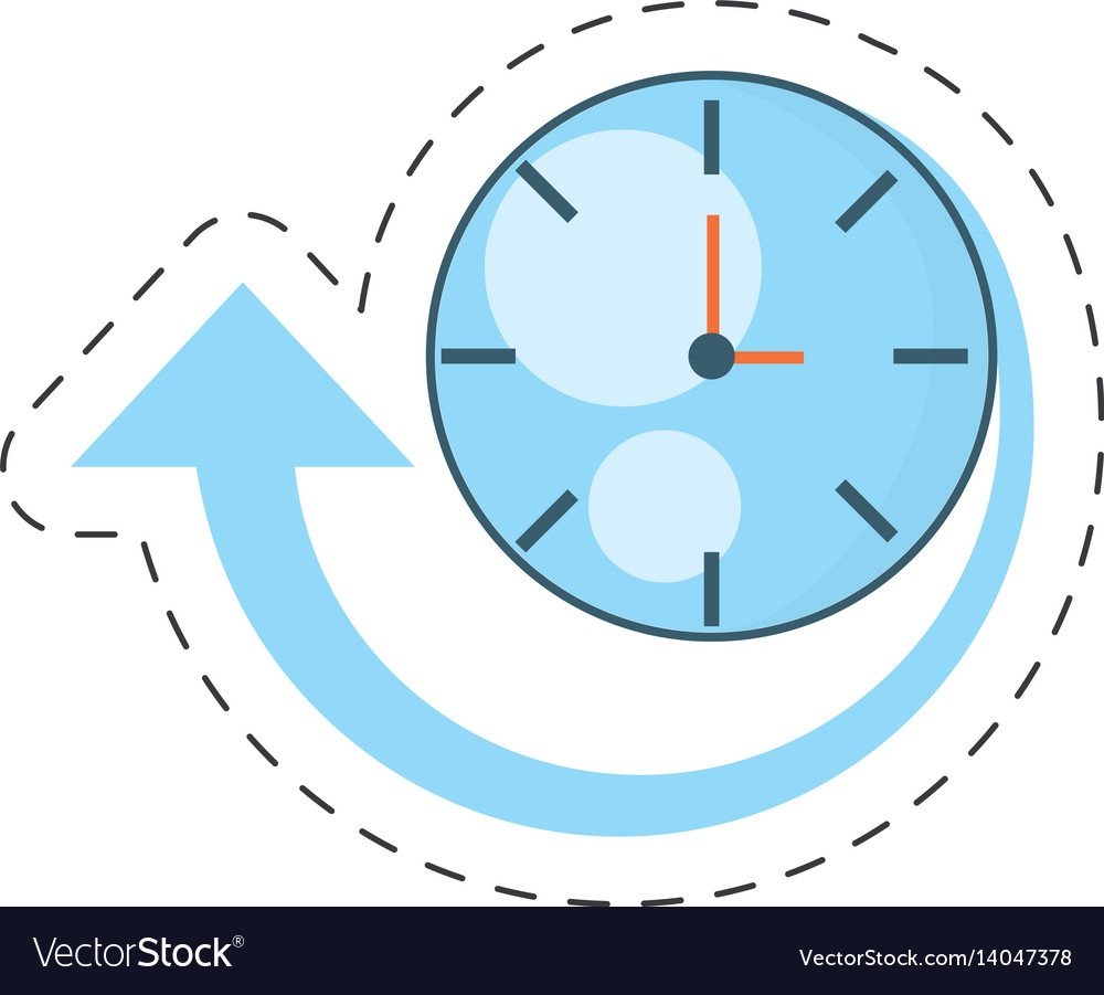 Clock time delivery worldwide vector image