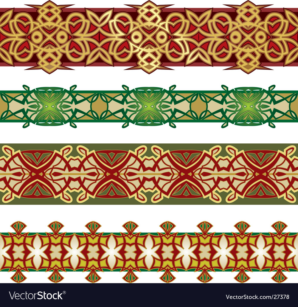 Graphic patterns vector image