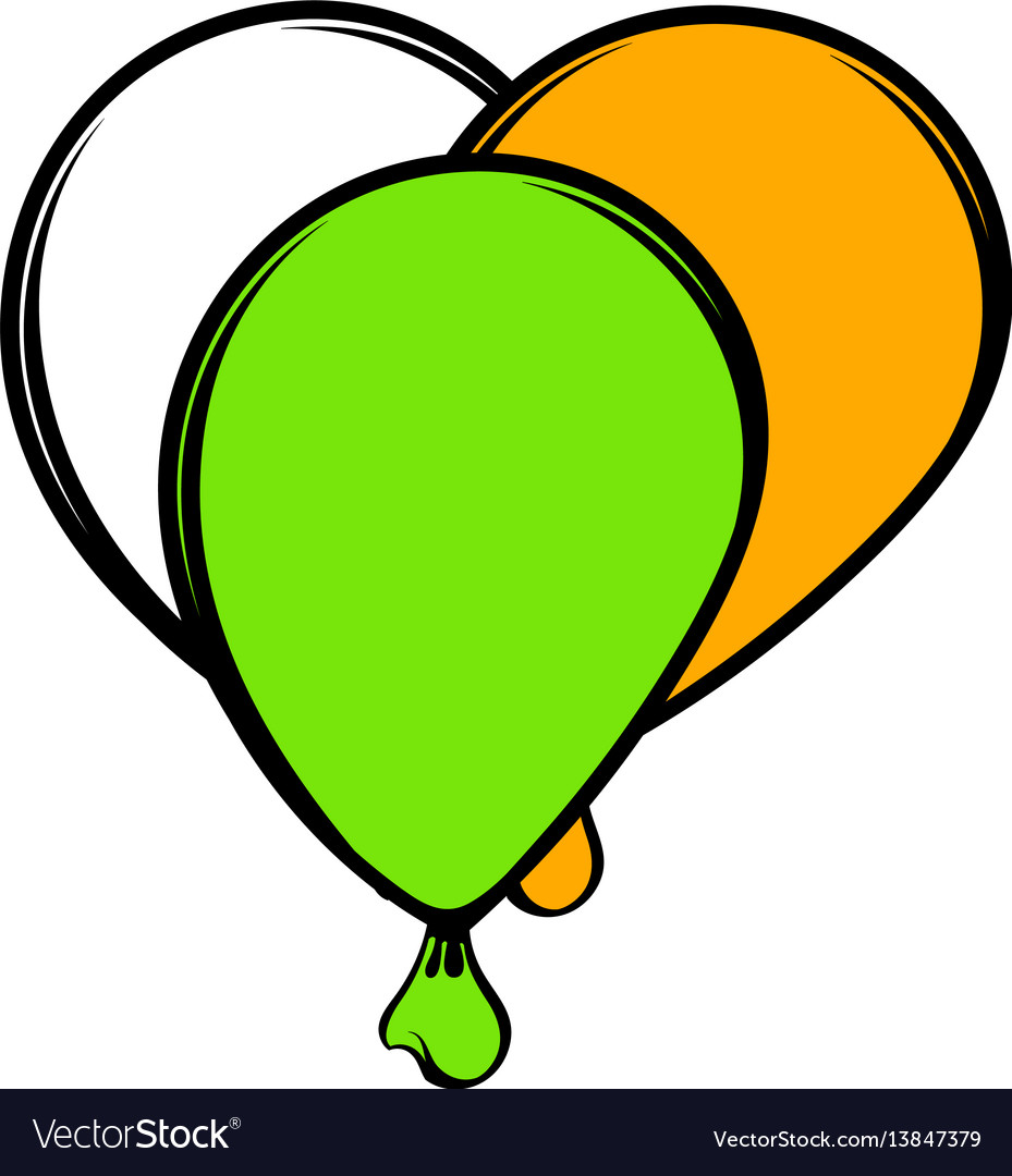 Balloons in irish colors icon icon cartoon vector image