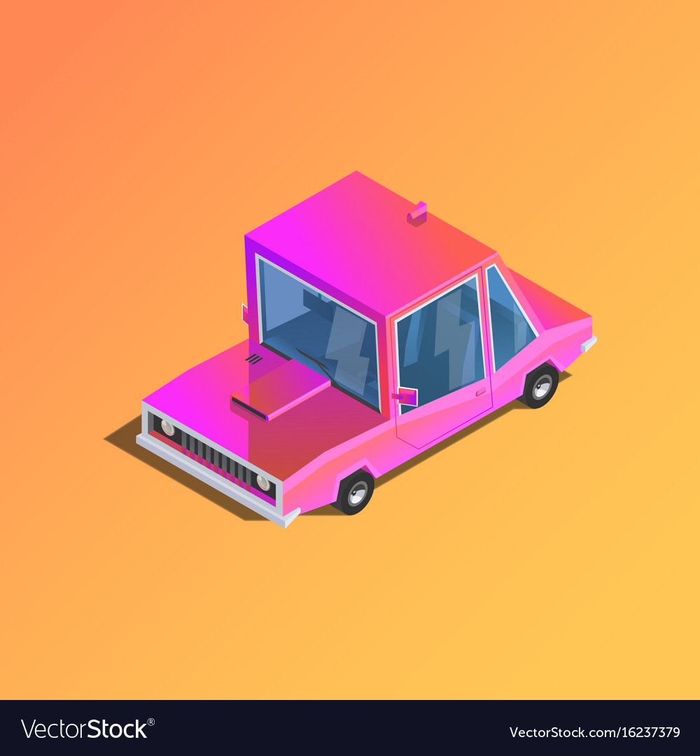 Flat 3d isometric car vector image