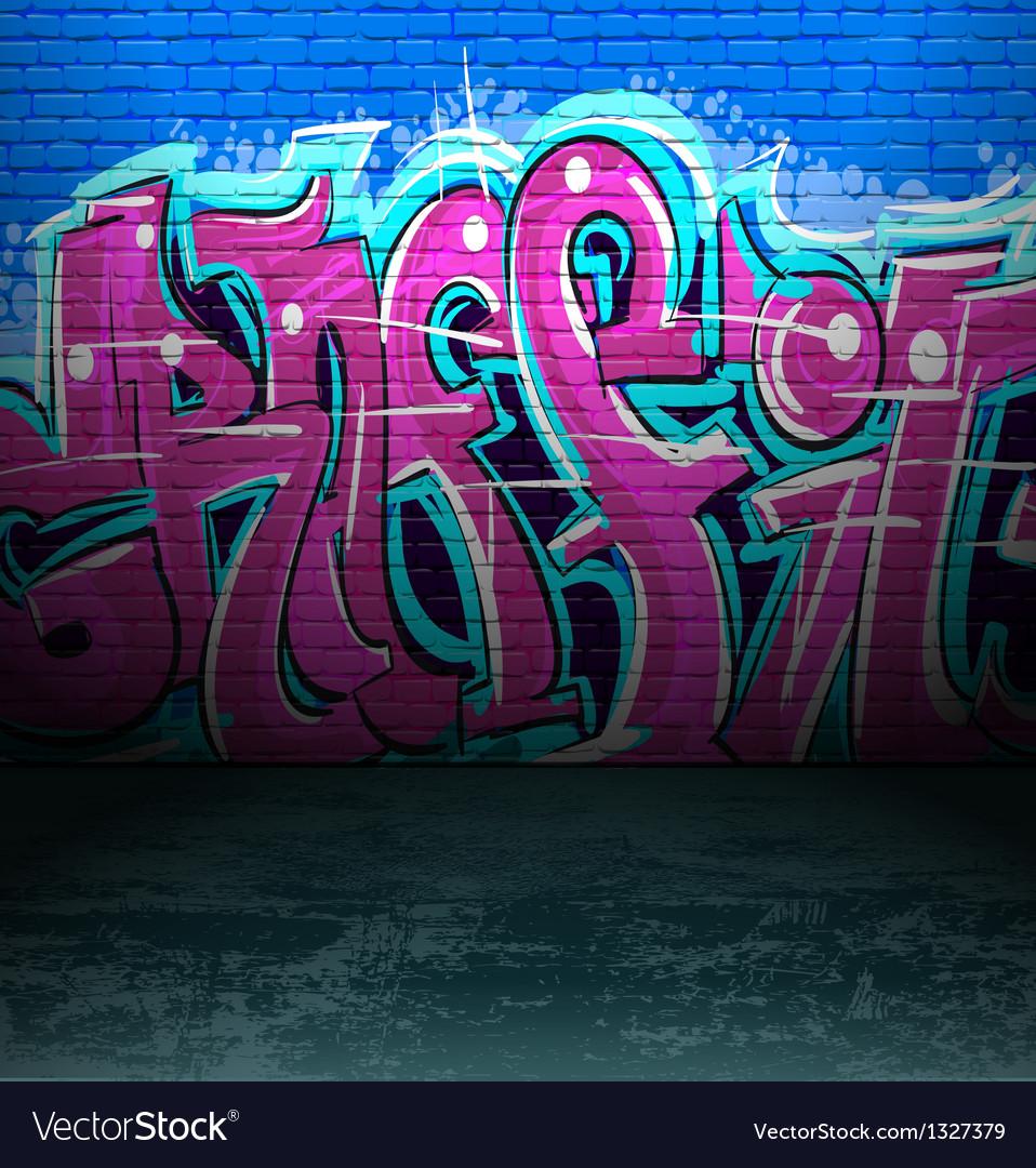 Graffiti wall urban street art painting vector image