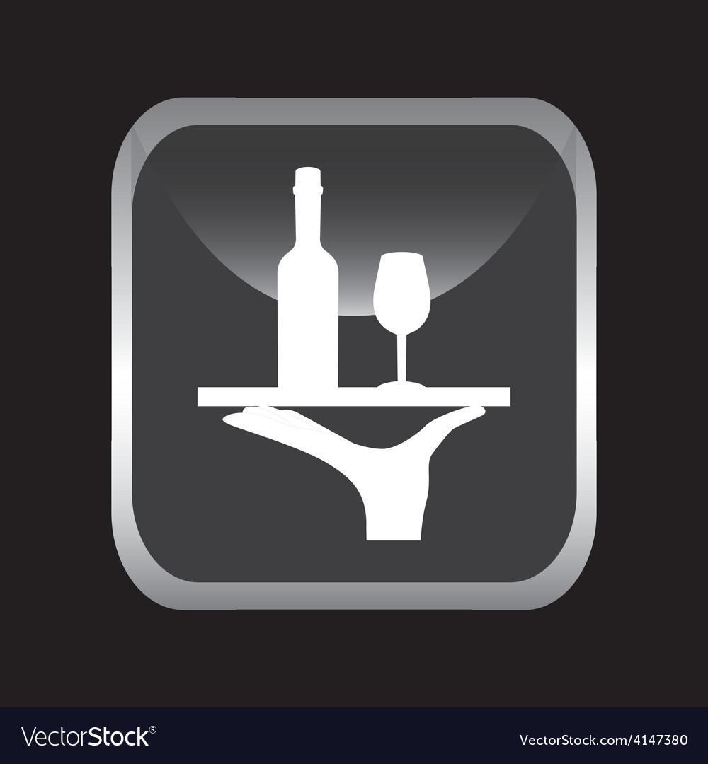 Wine bottle vector image