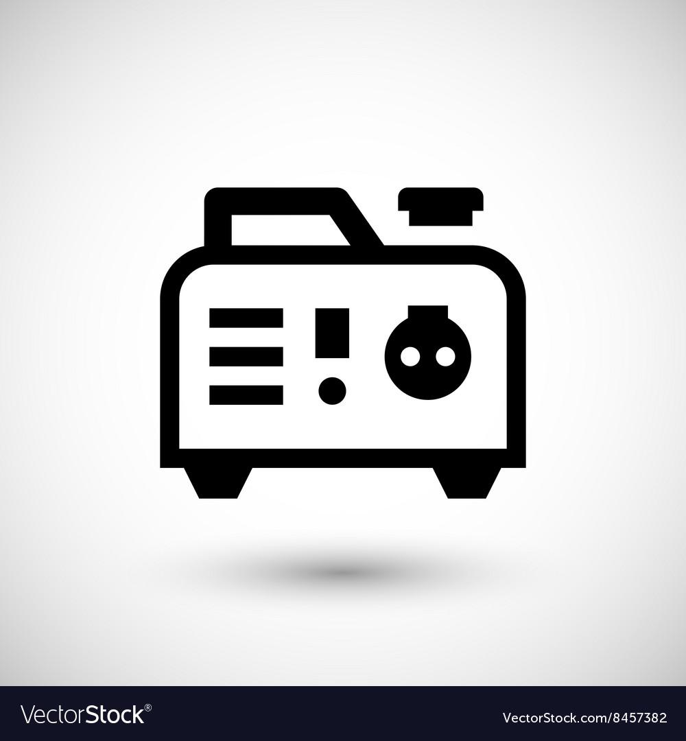 Portable Electric Generator Icon Royalty Free Vector Image