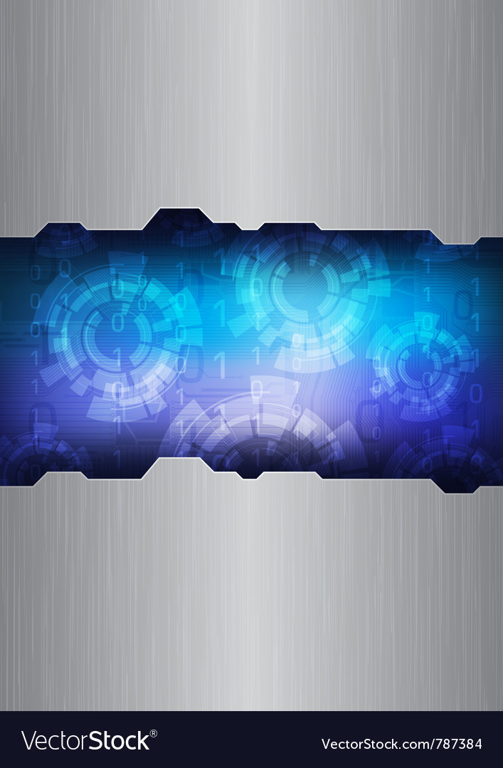 Modern technology background vector image
