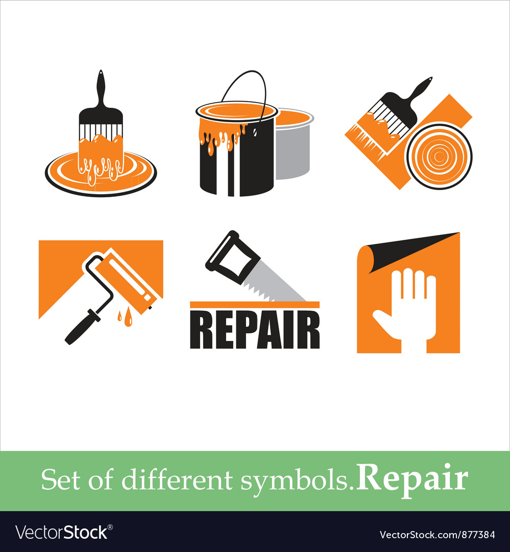 Repair symbols vector image