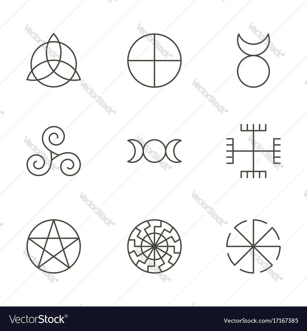 Pagan ancient symbols mystery sacred icons vector image pagan ancient symbols mystery sacred icons vector image biocorpaavc