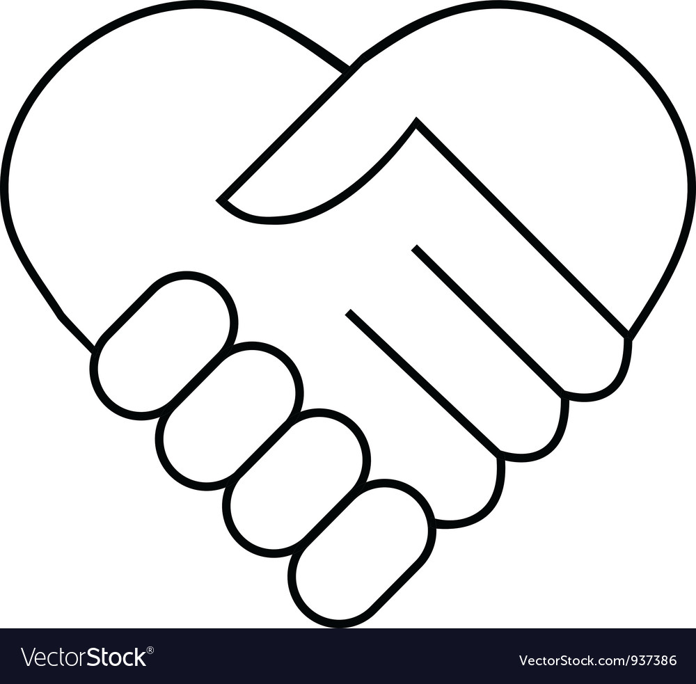 Hand shake logo vector image