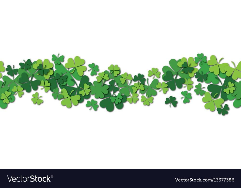 Happy saint patrick s day horizontal vector image