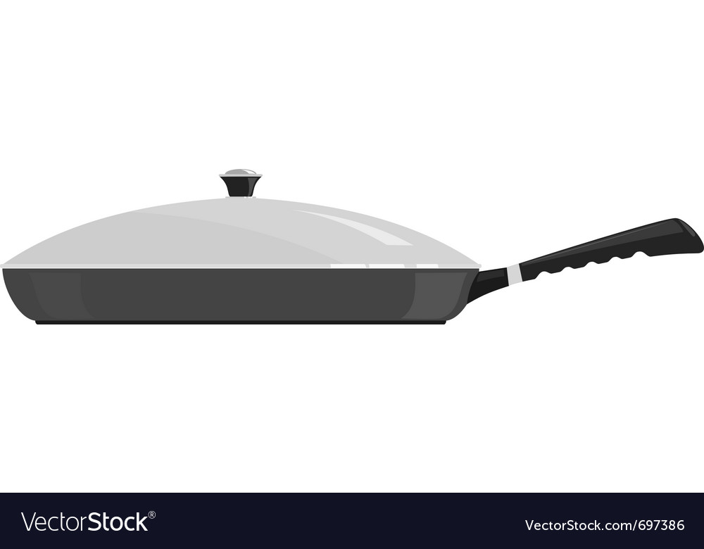 Of a frying pan vector image
