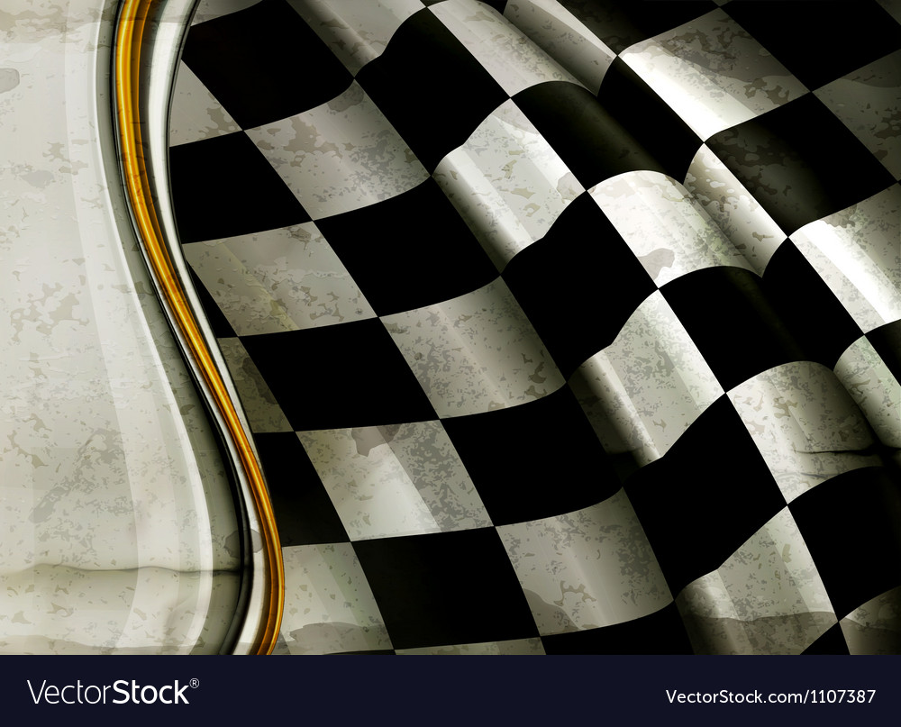 Horizontal Checkered Background old-style vector image