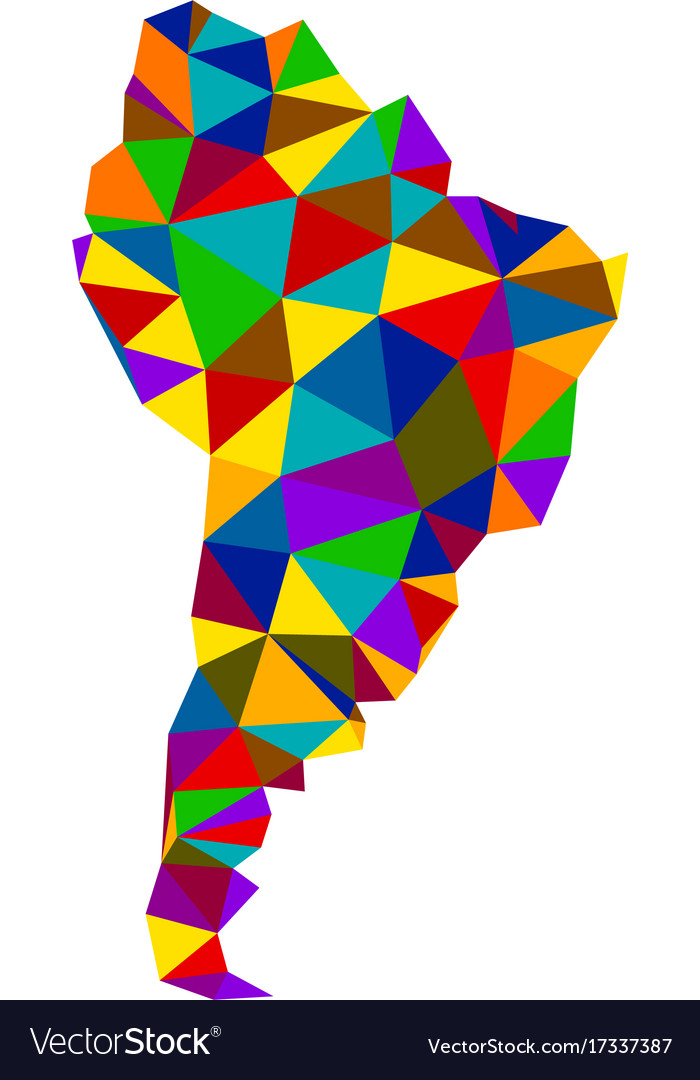 Colorful Abstract South America Map Royalty Free Vector