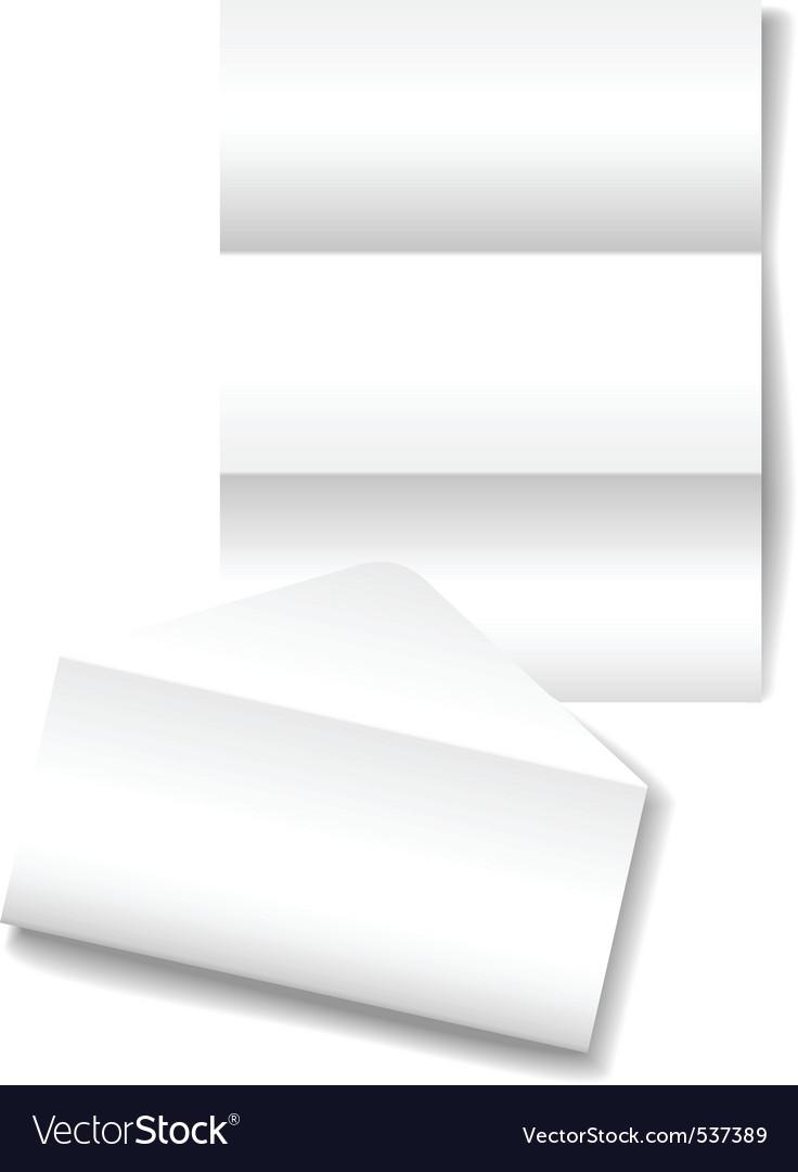 Open folded letter vector image