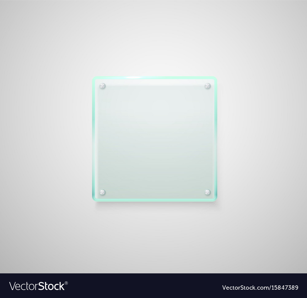Advertising glass board place your text vector image