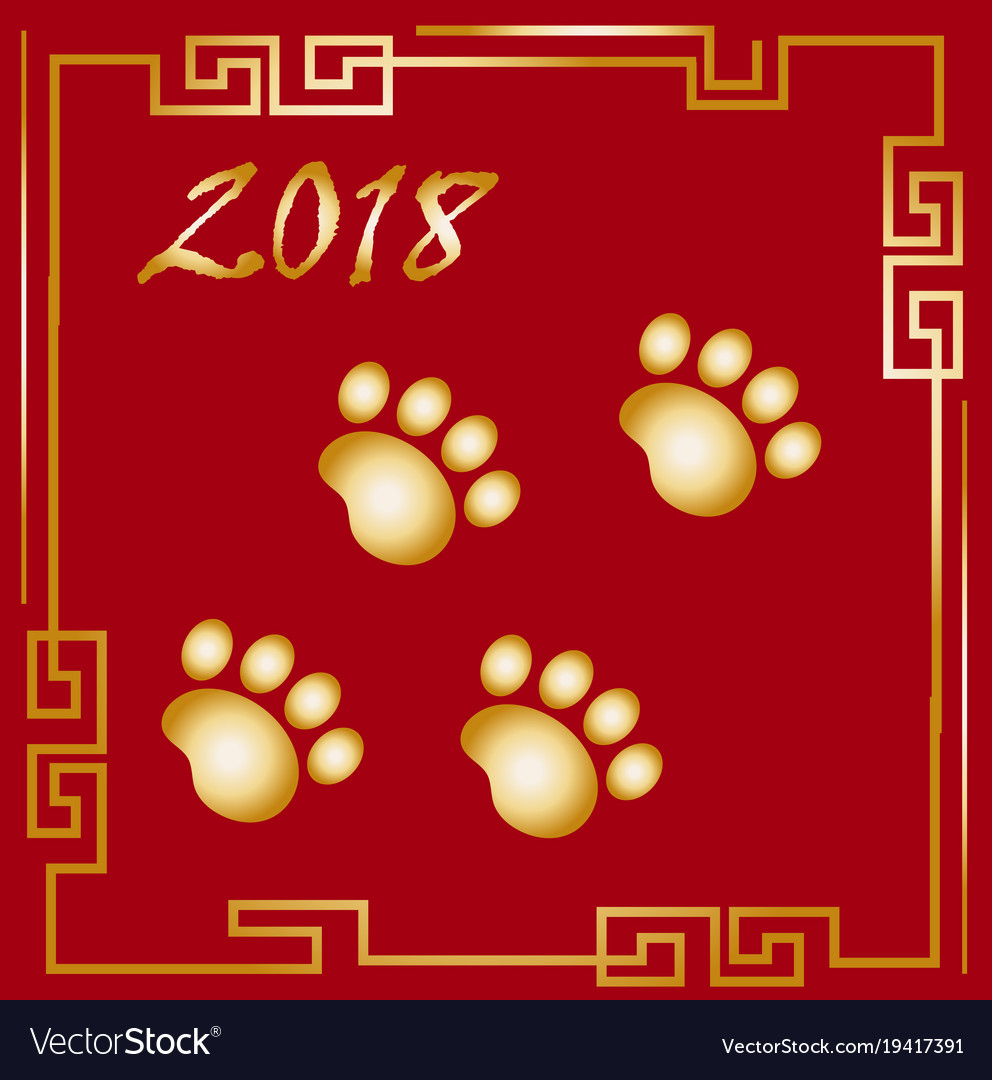 happy chinese new year 2018 greeting card with a vector image chinese greeting new year - How Do You Say Happy New Years In Chinese