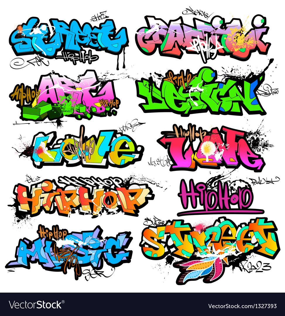 Graffiti wall vector free - Graffiti Wall Urban Art Vector Image